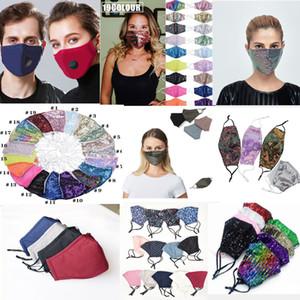 strass rosto lavável máscara de lantejoulas reutilizáveis Rosto Máscaras crianças de algodão máscara facial sublimação anti-poeira Máscara protetora pano com filtro