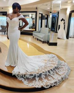 2020 Arabic Aso Ebi Sexy Lace Beaded Wedding Dresses Mermaid Cheap Bridal Dresses Vintage Wedding Gowns ZJ955