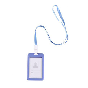 Blue Card Rope Cards Work Badge Lanyard Hanging For Id Grayish Holder School Brand nOlxZ bde_luck