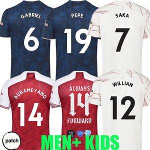 20 21 Gunners Fußball Jerseys dritte 2020 2021 Arsen PEPE NICOLAS saka GUENDOUZI WILLIAN GABRIEL Männer Kinder Fans PLAYER VERSION Fußballhemd