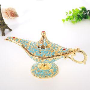 Aladdin Lampe Traditionelle aushöhlen Märchen Magie Aladdin Wishing Genie Lamp Teekanne Retro Hauptdekoration Zubehör