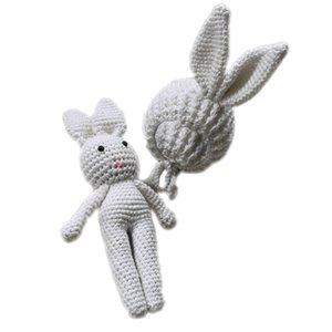 Chic bébé nouveau-né Crochet Bonnet Cap Lapin Jouet Photo Photographie Prop