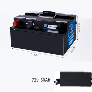72V 50Ah li ion battery Lithium BMS for 3000w 5000w motor inverter scooter motorcycle + 10A charger