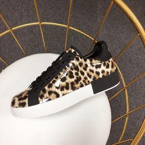 Chaussures d'homme imprimé léopard chaussures casual Napa 2019 nouvelles femmes Cuir de veau mode chaussures en cuir PORTOFINO Sneakers