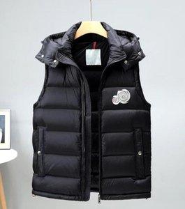 2020 зимний жилет с капюшоном вниз жилет мужчин с капюшоном куртки высокого качества роскошь вниз жилет зимние пальто спорта на открытом воздухе куртки Верхняя одежда