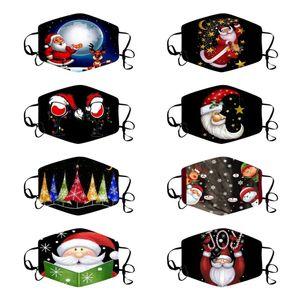 Cara caliente de Navidad máscara a prueba de polvo respirable máscaras máscara del muñeco de impresión reutilizable de Navidad Cara Máscaras de diseño T2I51477
