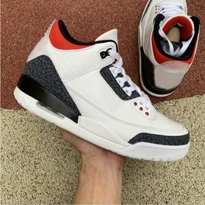 Neue 3 SE DNM Fire Red 3s schwarz und weiß Zement Männer Basketball-Schuhe Trainer Männer Sport-Turnschuhe Größe 7-11