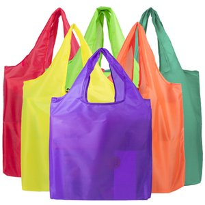 40*38cm Eco-friendly Cheap Solid Pure Color Heavy Duty Custom Reusable RPET Foldable Grocery Shopping Bag with Custom Logo