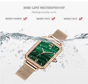 Damenuhr Rectangle Armbanduhr Green Screen Wasserdicht wristwatchsQuartz Retro Handgelenk watchs Small Square Multicolor watchs Weihnachten Gi