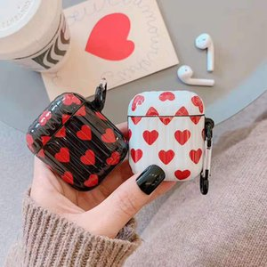Trendy Airpods Pro protection case is suitable for Airpods 1 2 generation wireless bluetooth headset case love stripe creative case