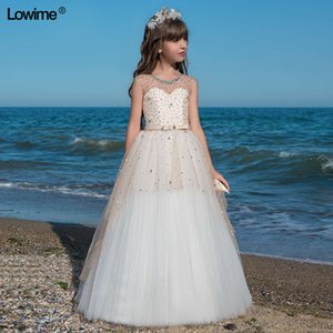 2020 New First Communion Dress For Girls Cap Sleeve Flower Girl Dresses For Weddings Vestido Daminha 2020 Pageant Dress