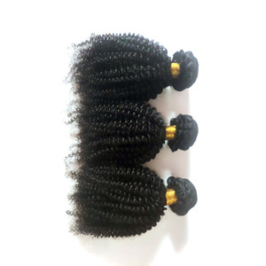 Black woman Unprocessed Brazilian Virgin hair Afro 4c Kinky Curly best quality Indian remy Hair weft For Sale cheap Factory Price 3pcs lot