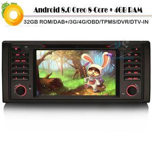 Android 8.0 Radio Player Car Autoradio pour 5 Série X5 M5 Octa de base 4G 32GB ROM DAB + WiFi GPS 4G RDS BT SD OBD2 DVT-IN