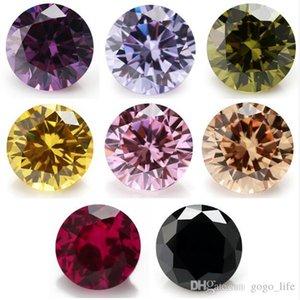 Cgjxs 50PCS 멀티 크기 0 0.8 ~ 10 .0mm 8 색 혼합 색상 당 색상 블랙 / 핑크 / 퍼플 느슨한 큐빅 지르코니아 레드