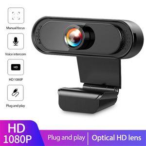1080P HD Webcam Web-Kamera Built-in Noise Reduction Mikrofon 30 ° Sichtwinkel Webcam Camara Web Cam für Laptop-Desktop