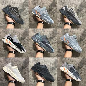 웨이브 러너 (700) 카니 예 웨스트 (Kanye West) MNVN 오렌지 배 검은 색 반사 신발 솔리드 자석 Vanta를 탄소 블루 관성 V1 V2의 운동화를 실행