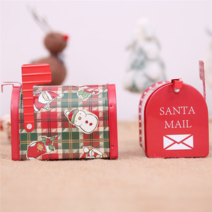 2020 christmas mailbox Magnetic Mailbox Cover Christmas Candy Box Craft Iron Storage Box Organizer Tin Box Mailbox