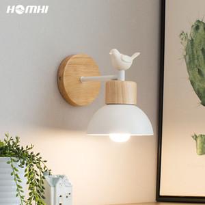Vogel sconce Nordic Wandleuchte aus Holz moderne LED Wandleuchten Fixture Hauptdekoration für Schlafzimmer Badezimmer führte Raumdekor luces
