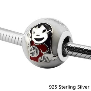 2017 winter charms Fits Pandora Bracelets Authentic 925 Sterling Silver Jewelry Ohana Blue Dog Original Fashion Charms Beads