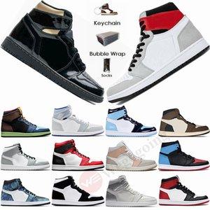 Nike Air Jordan Retro 1 High Travis Scotts Low Paris Mens Basketball Chaussures Twist UNC Zoom Racer Bleu Mid Milan Obsidian intrépides femmes Styliste de sport Chaussures de sport