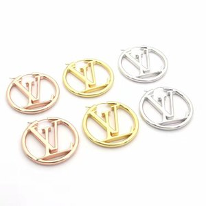 Дизайнер ювелирных изделий золото Хооп серьги для женщин из нержавеющей стали Silver Rose Gold Letter V Stud Huggie Earings моды Bijoux подарка партии