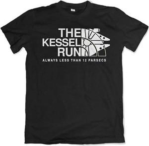 케셀 실행 12 파섹 스타 밀레니엄 팔콘 T 셔츠