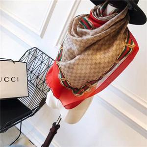 4 цвета Top Ice Шелкового шифон Тонкого шарф Женщины мягкого Предотвратить Bask В Туризме шарфы Luxury Печать Дизайнер Длинные однослойная Марка шаль