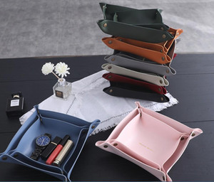1pc Hot Selling Storage Trays Square Tray for Jewelry Phone Key Wallet Coin Desktop Storage Box Sundries Bins Decorative Trays