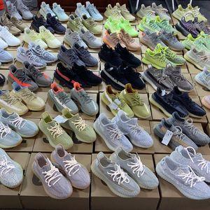 2020 Running Shoes Kanye West degli uomini di Static 3M Ash Yecheil Bred Oreo Terra Lino Asriel Zebra pattini correnti di sport