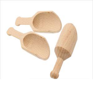 Mini Wooden Scoop Teaspoon Small Salt Shovel Bath Salt Spoon Milk Powder Scoops Wood Condiment Spoons Coffee Tea Mini Sugar Spoon DBC BH4094