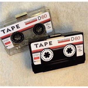 Акриловых сумки аудиокассеты мешок вечера прозрачного сцепления жестких коробки сцепление высокого класс мешок рука небольшой партия кошелек сумка 200919