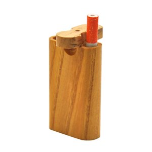 High Quality Wood Dugout Pipe 2 In 1 With Wooden Box Digger One Hitter Glass Pipes 59mm Diameter DHC2006