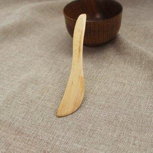 500pcs cuchillo estilo Máscara de madera Japón cuchillo de mantequilla mermelada Cena Cuchillo de madera Cheese Cake Jam esparcidor Tabeware DHD1108