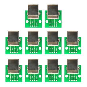 10 pièces USB Type B Femme Socket Socket Board to DIP Connecteur pour accessoire d'imprimante
