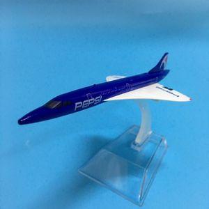 JASON TUTU Flugzeugmodell 1: 400 Diecast Metall 16cm Flugzeug Modell Flugzeug-Modell Pepsi Concord Airlines Flugzeuge Flugzeug Spielzeug Y200428