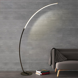 Modern Black Line LED Floor Lamp Hotel Home Living Room Reading Bedroom Art Standing Light FA109