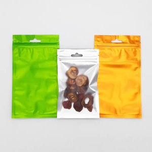12*20cm 100pcs Matte Zip Lock Package Bags Clear on Front with Air Plane Hanger Dry Food Storage Packaging Bags Gifts Packing Mylar Foil Bag