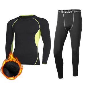 Hiver Vêtements Homme Sous-vêtements thermiques Quick Dry Réchauffez extérieur Long Johns Set Homme chaud Set Fitness Thermo Underwear