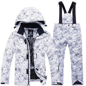 Boys Girls Fashion Winter Snowboarding Kid Ski Suit Set Jacket Pants Thickened Snow Zipper Waterproof Warm Thermal Children