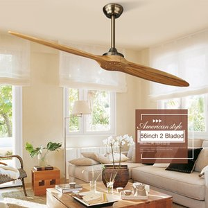 Modern Indoor Ceiling Fan with Remote Solid Wood Oil Rubbed Bronze Damp Rated for Kitchen Patio 54 Inch  56 inch