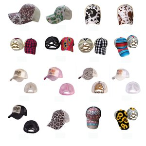 Baseball Caps Ponytail Criss Cross Messy Bun Hats Cotton Trucker Caps Summer Snapback Hat Sport Hip Hop Party Hats Outdoor Sun Cap BWC2355