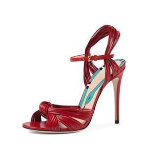 Heißer Verkauf- Designer-Schuhe Frauen Luxus zapatos mujer tacon chaussure femme hohe Absätze Sandelholzfrauen Partei Sandalen Kreuzgurt Frauen Sandalen
