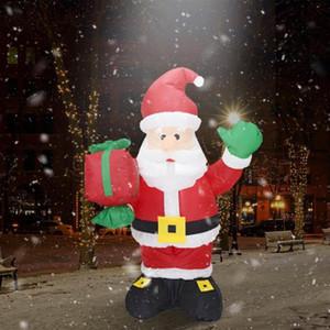 El paquete de regalo con LED Airblown Santa Claus Santa Claus Inflables de Navidad gigante del partido decoración del hotel inflable linda