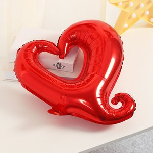 18inch Red Aluminum Foil Hook Heart Shaped Air Balloons Wedding Anniversary Valentine's Day Party Decoration WB2670
