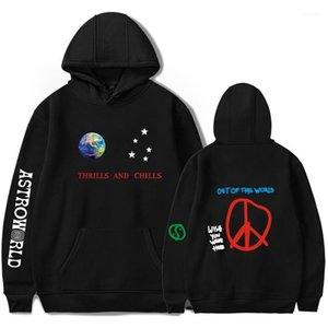Thrills Chills Letters Printed Hooded Sweatshirts Astroworld Mens Designer Hoodies Spring 2019ss