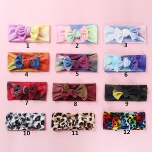 Baby Girls Tie Dye Headbands 2020 New Soft Stretch Bow Knot Hair Bands Head Wrap For Toddlers Newborn Turban