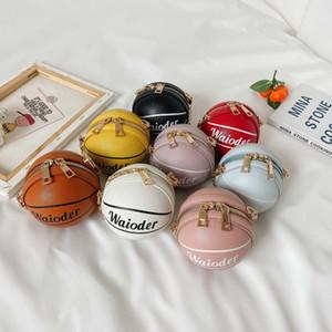 2020 cabritos de la manera bolsos niños de Corea princesa mini monederos gran capacidad lindo del baloncesto del Cruz-cuerpo de la moneda Bolsas de regalos de Navidad Niño