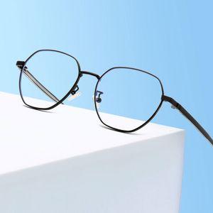 Высокое качество нового прибытия Близорукость Очки с Spring Шарниры металла Оправы рамки Full Rim очки унисекс Анти Blue Ray