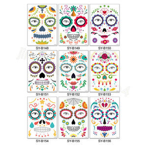Halloween Temporary Tattoo Stickers Decor Props Face Sticker Waterproof Atmosphere Masquerade Face Tattoos for Body Art FFA4461-6