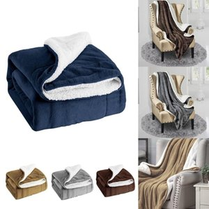 Blanket Soft And Warm 2020 Most Fashionable Dinner Family Autumn And Winter Thick Warm Wool Blanket Shawl #YL10